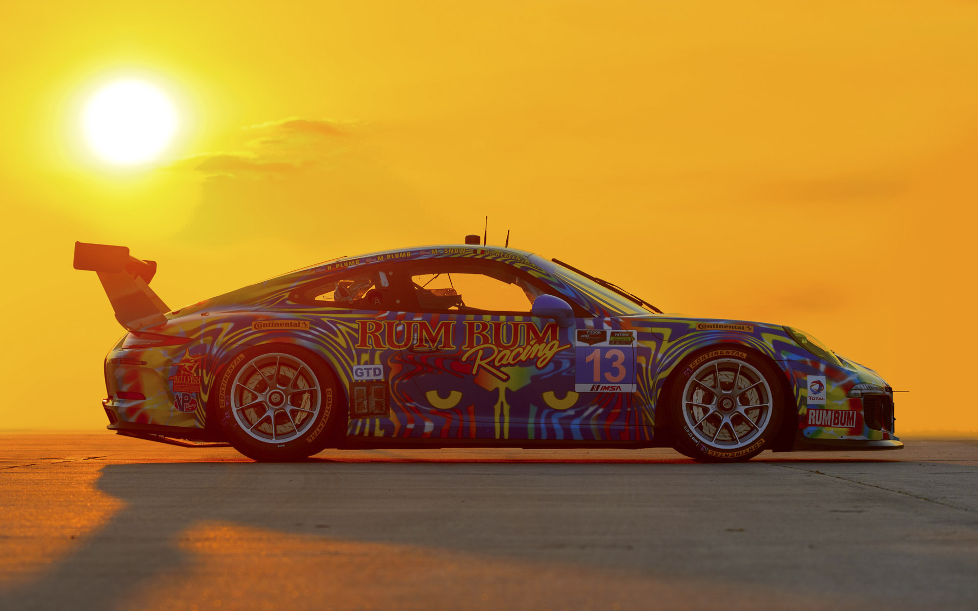 2014 Rum Bum Racing Porsche 911 GT America GTD Livery