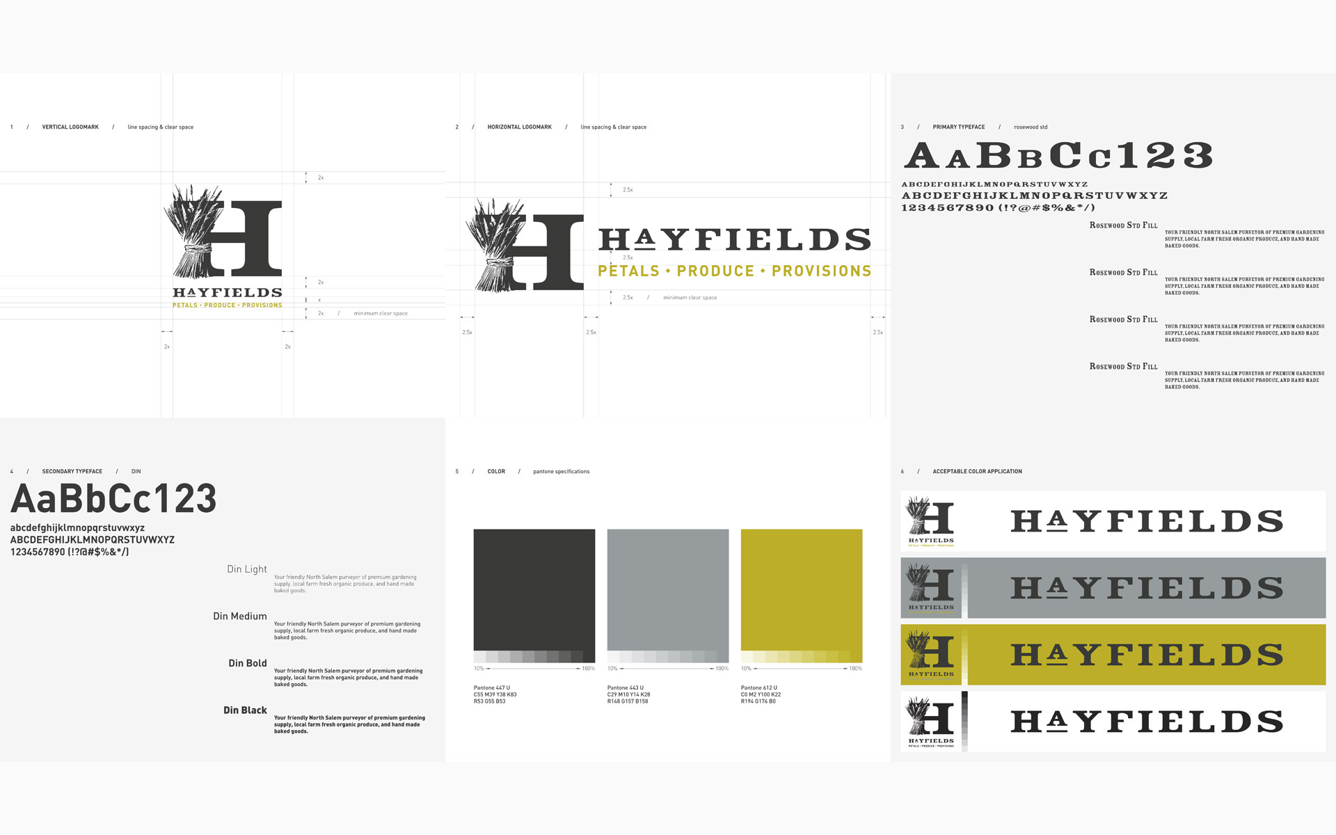 Hayfields Brand Identity Style Guidelines