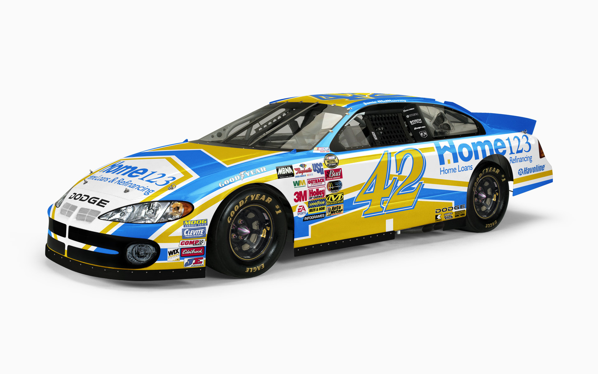 2005 Chip Ganassi Racing Home 123 Dodge Intrepid NASCAR Nextel Cup Livery Visualization
