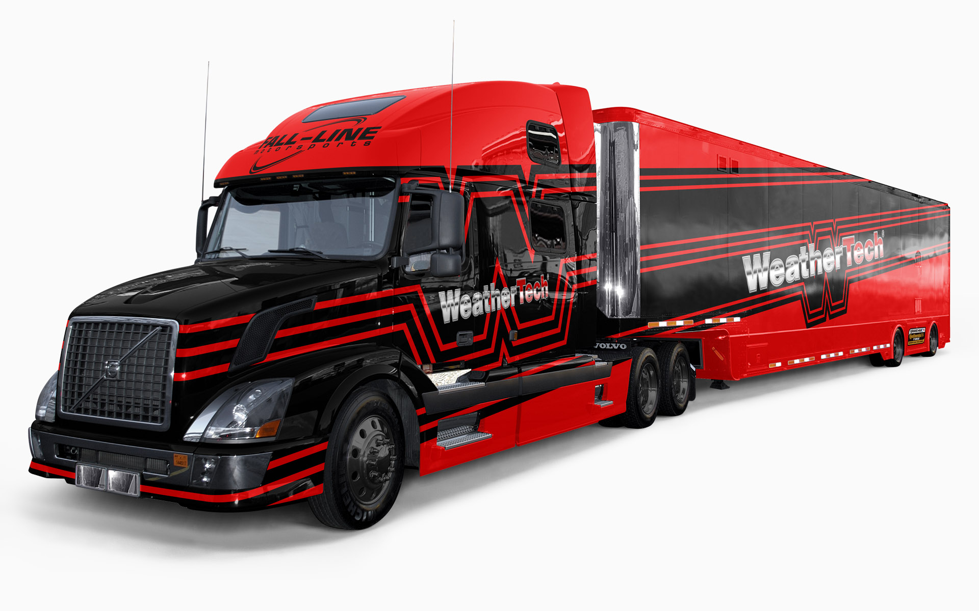 Fall-Line Motorsports WeatherTech Transporter Livery Visualization