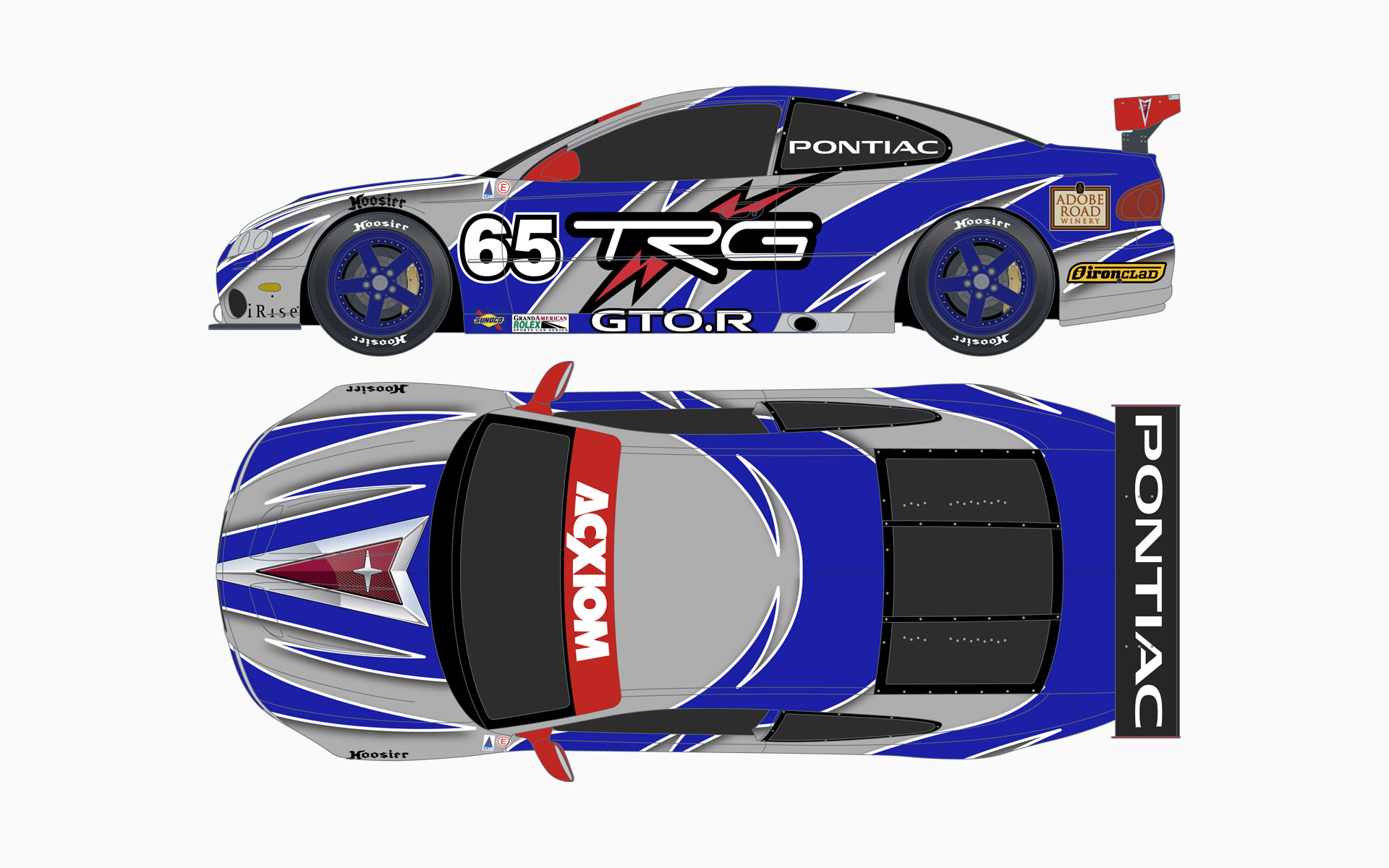 2005 GM Racing Pontiac GTO.R Livery Elevations