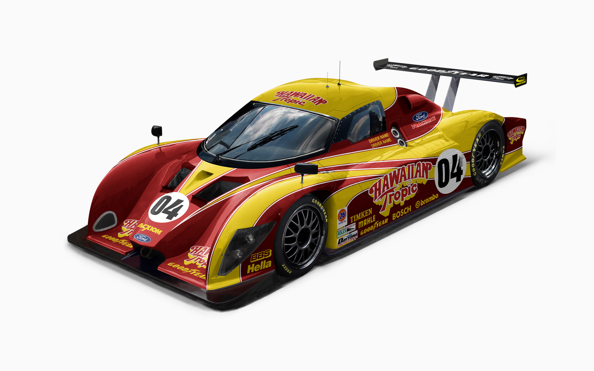 Hawaiian Tropic Multimatic Daytona Prototype Livery Visualization