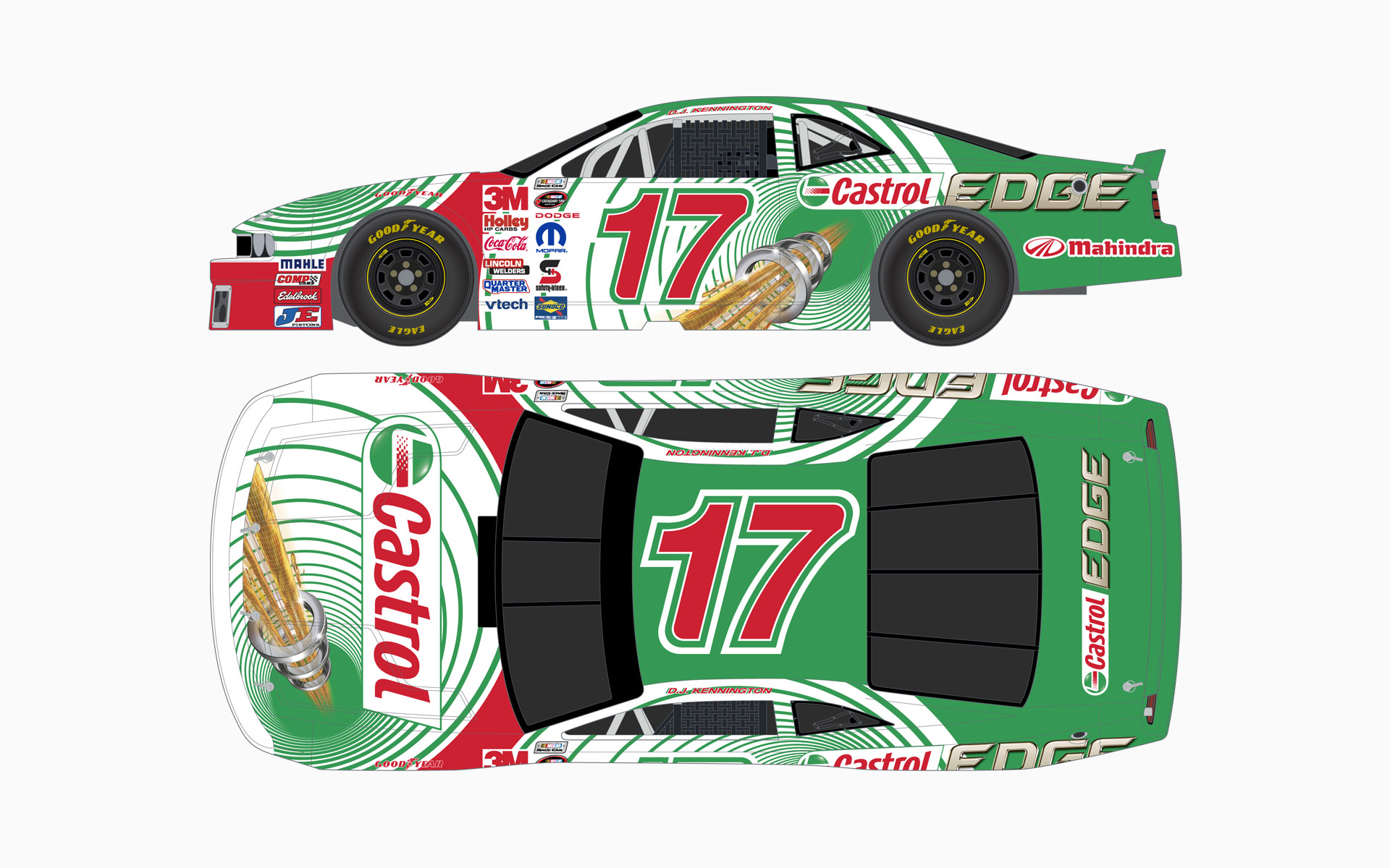 Wakefield Canada Castrol Edge Dodge Challenger NASCAR Canadian Tire Series Livery Elevations