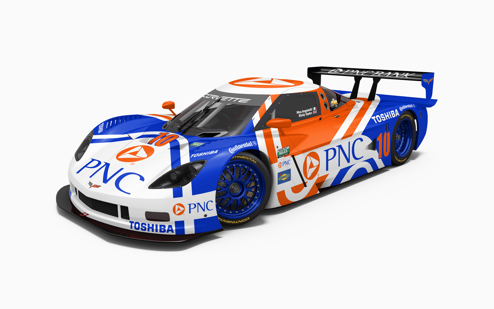 Wayne Taylor Racing PNC Corvette Daytona Prototype Livery Visualization