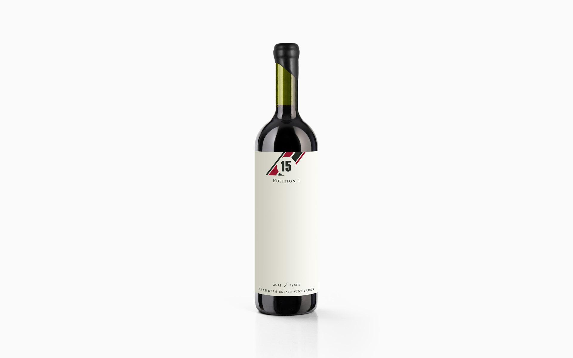 Franklin Estate Vineyards Position 1 Syrah Wine Labeling