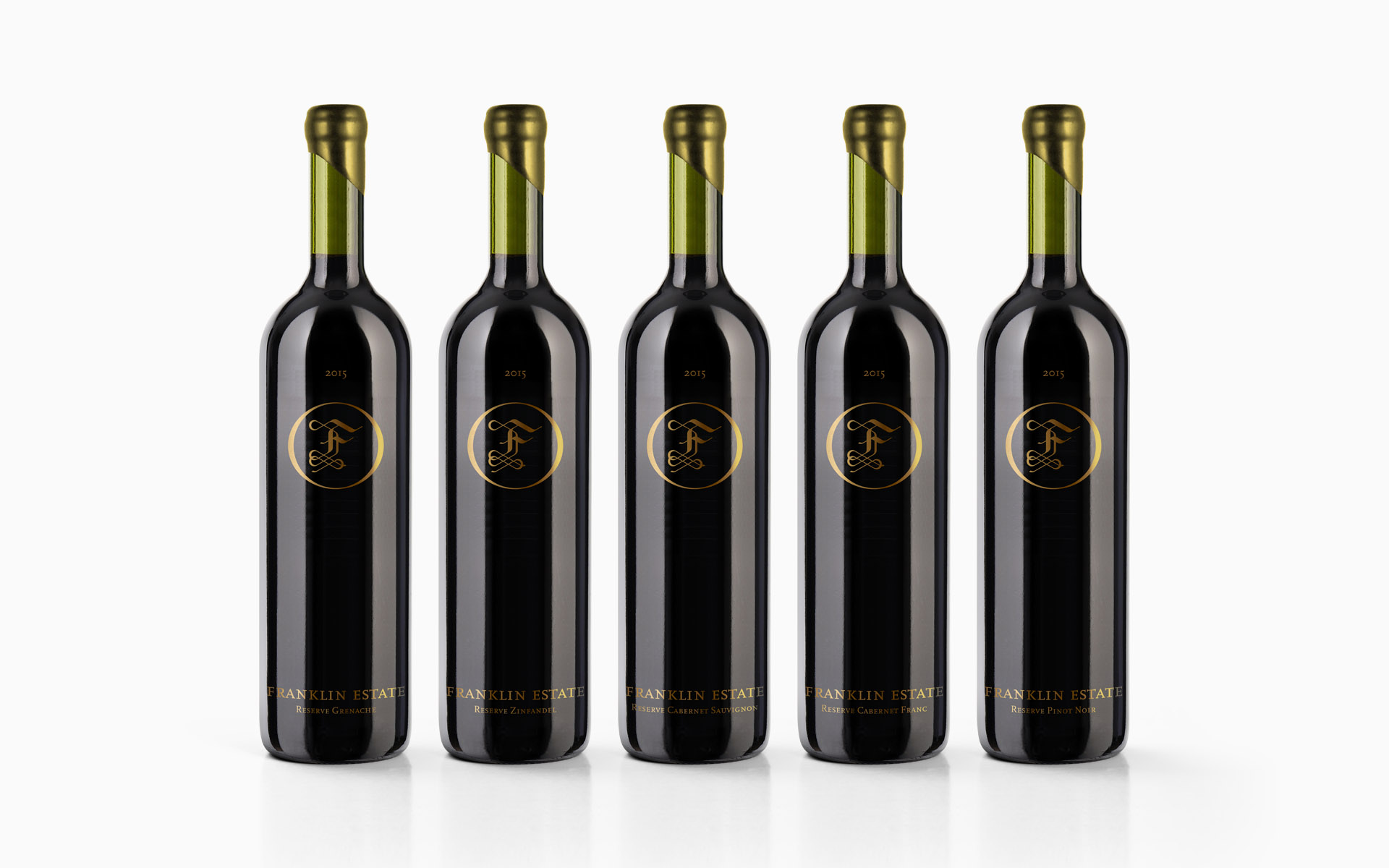 Franklin Estate Vineyards Reserve Wine Labeling