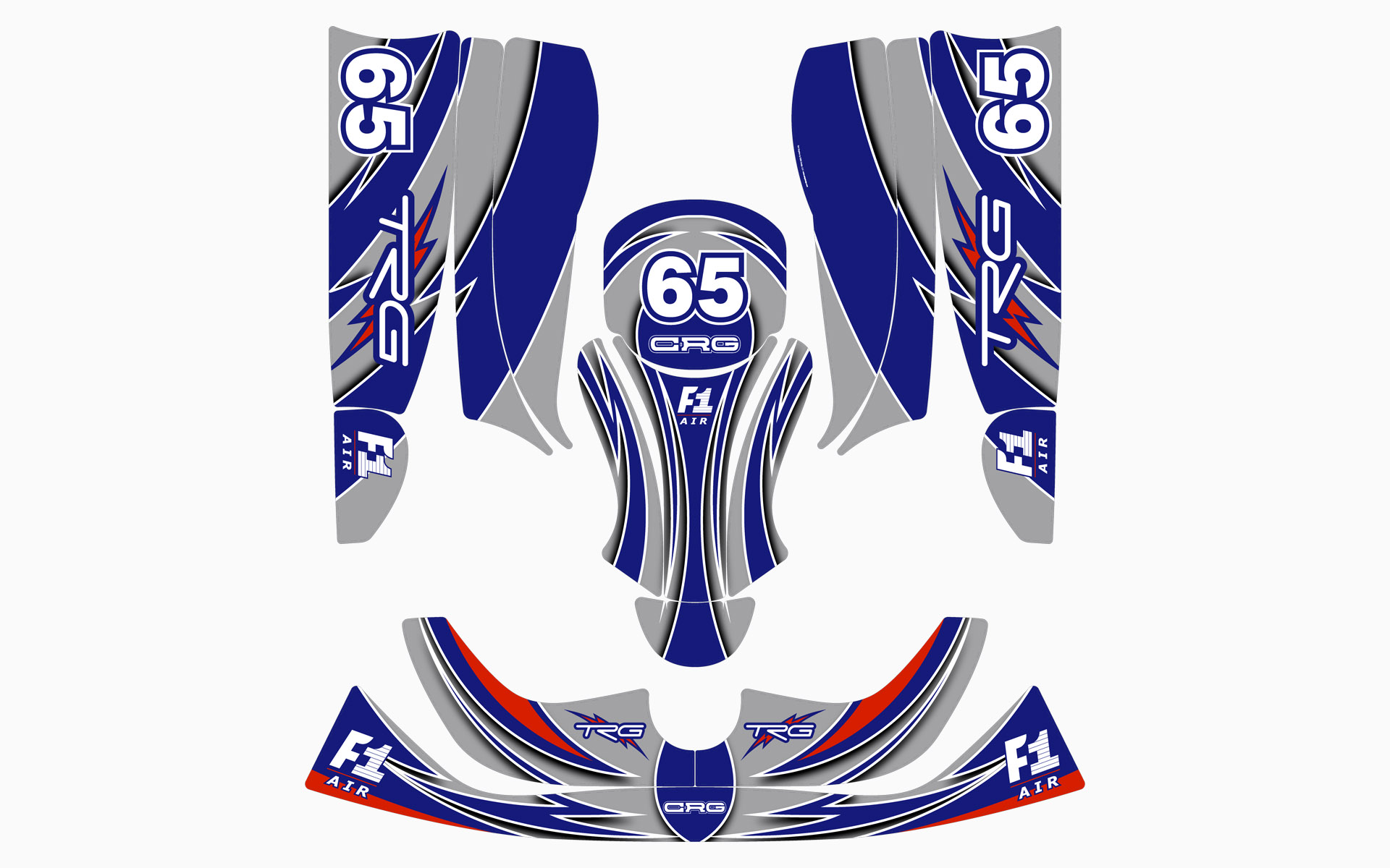2005 GM Racing CRG Kart Decal Kit