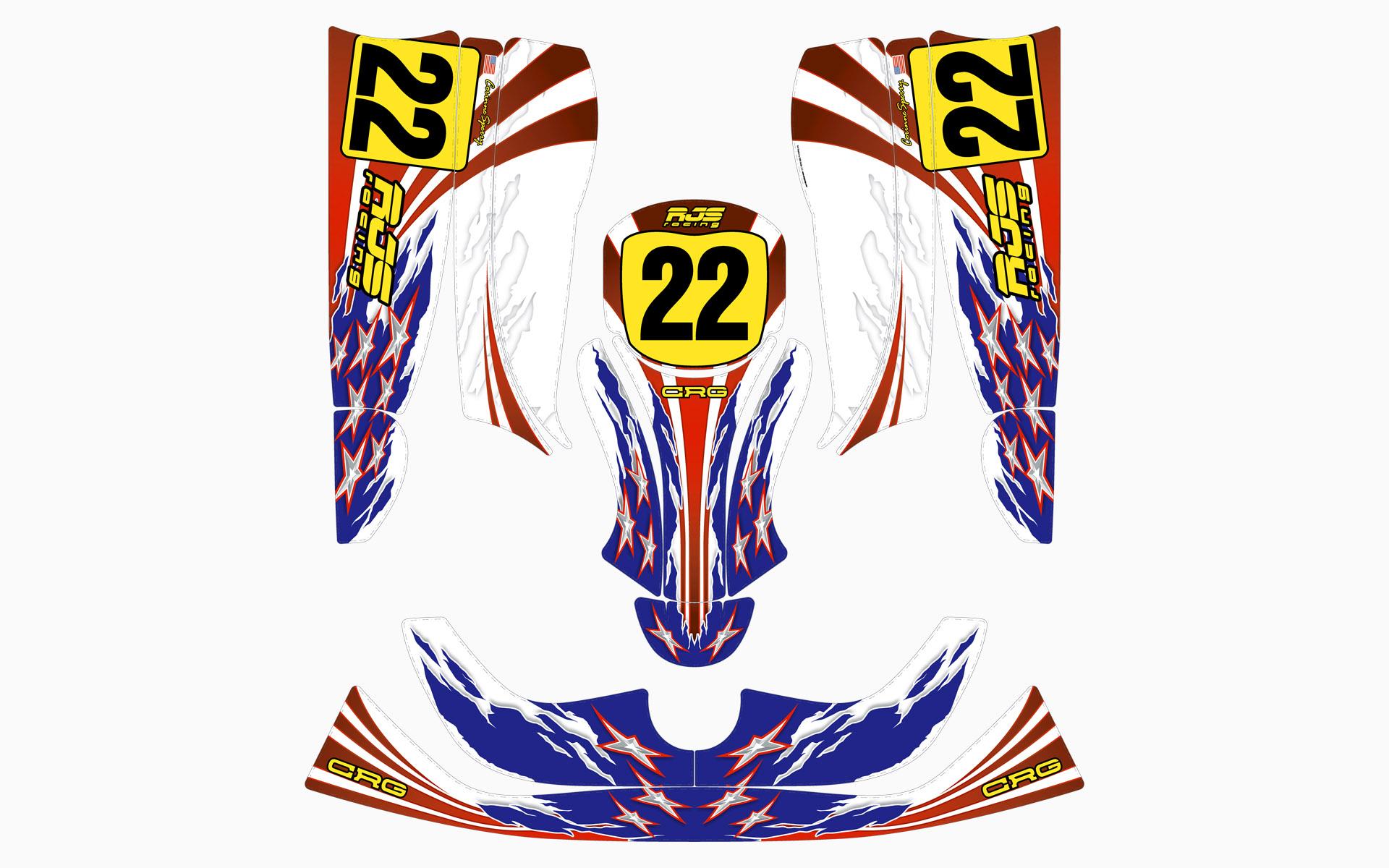 RJS Racing CRG Kart Decal Kit