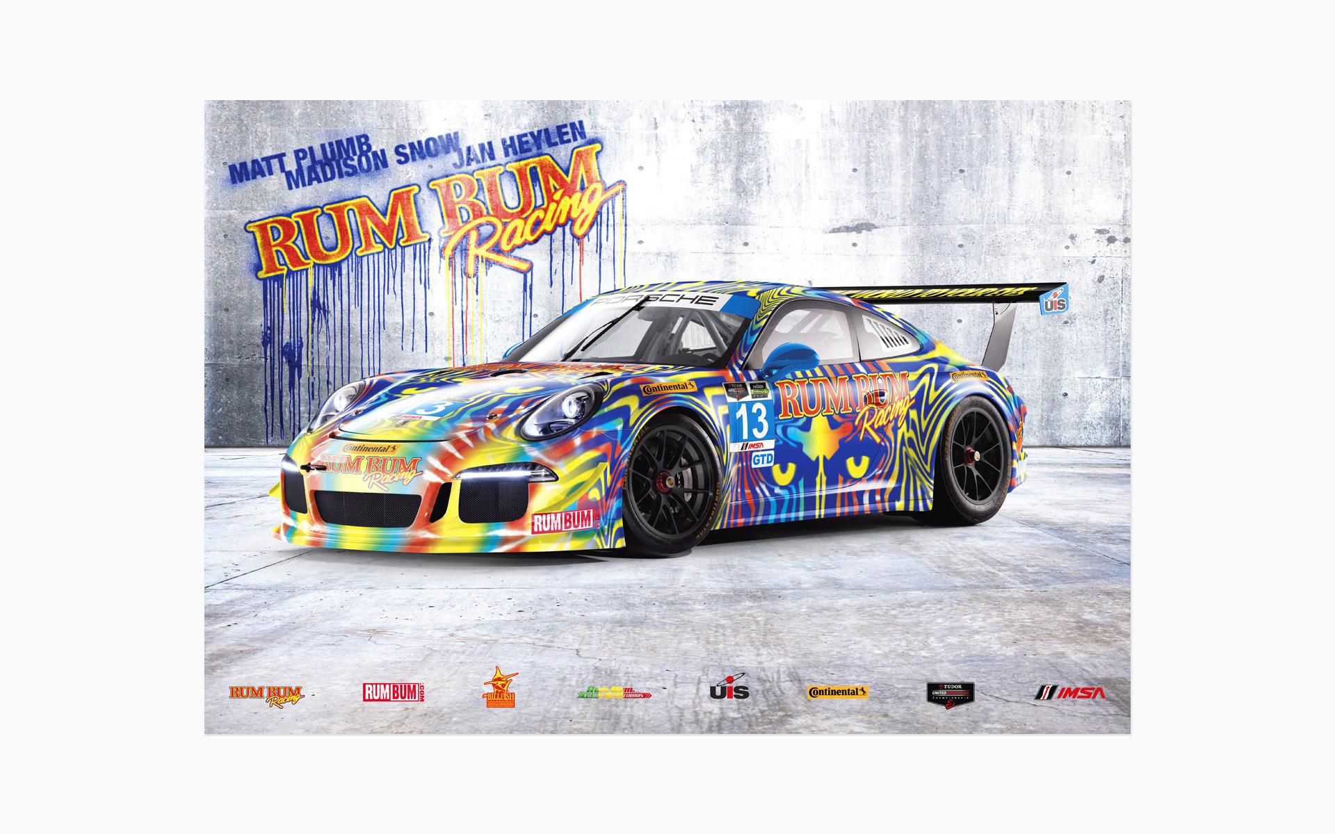 2014 Rum Bum Racing Porsche 911 GTD Poster