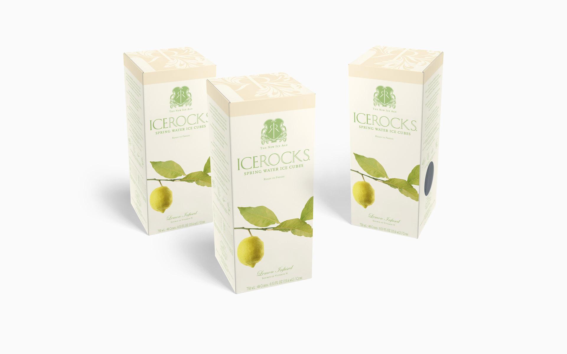WaterBank of America ICEROCKS Lemon Packaging