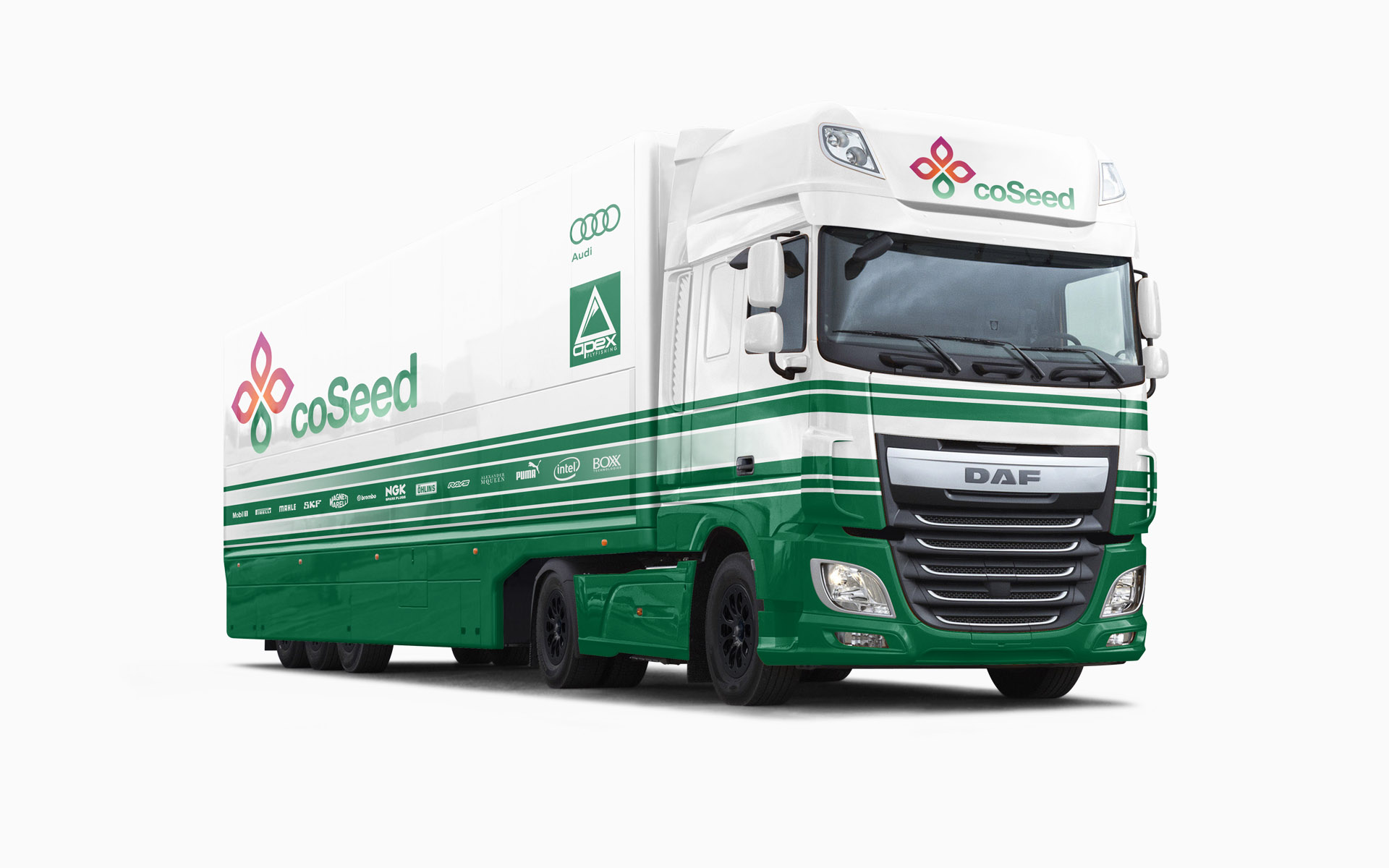 CoSeed F1 Transporter Livery Visualization