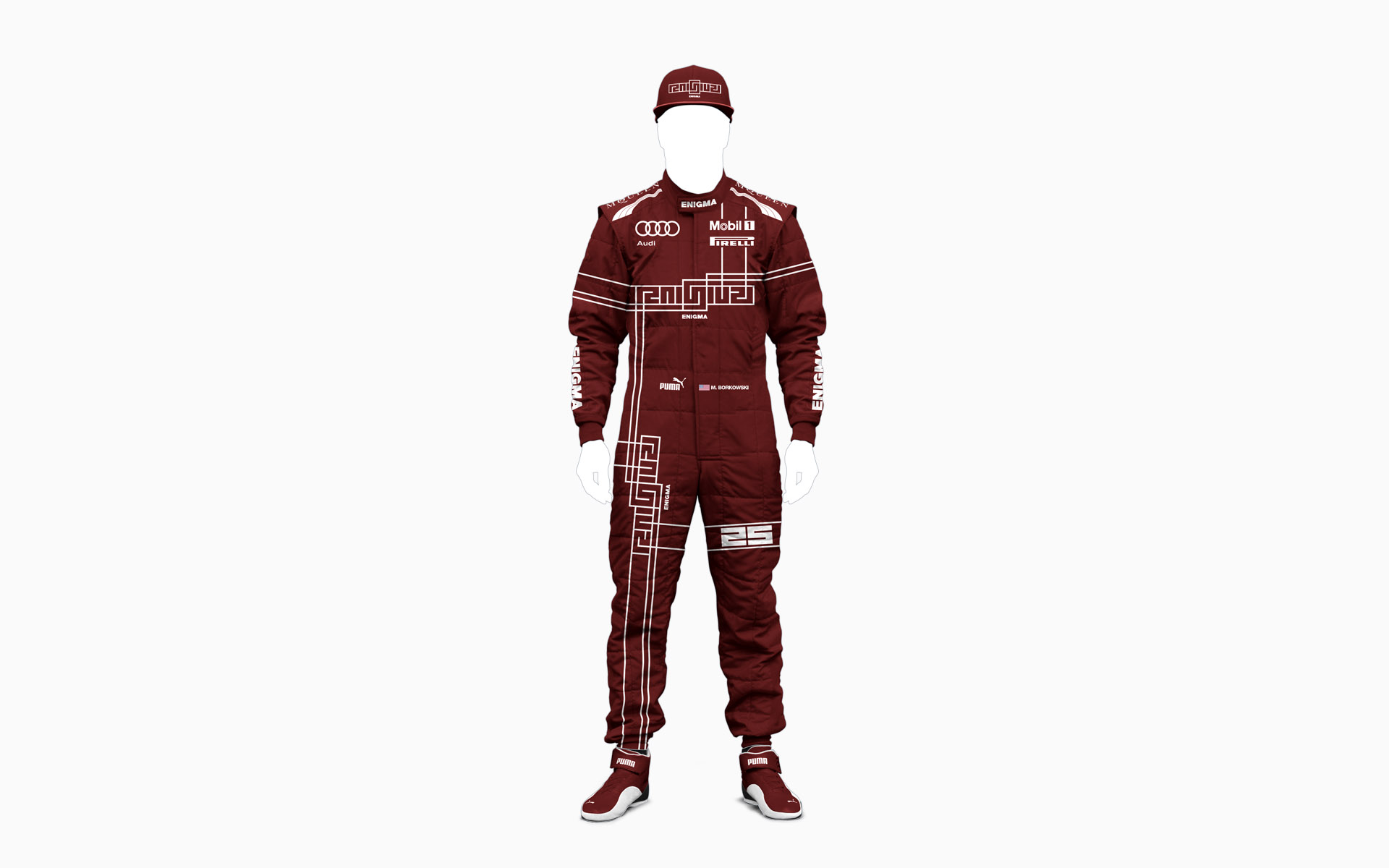 Franklin Estate Vineyards Enigma F1 Driver Firesuit Visualization