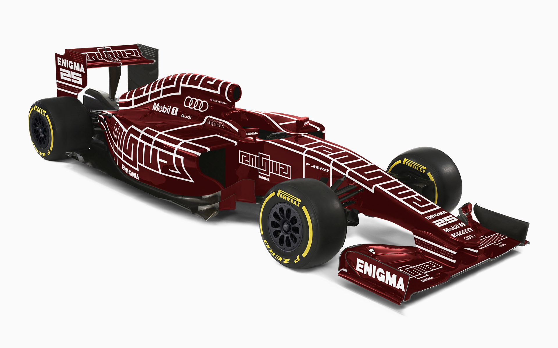 Franklin Estate Vineyards Enigma F1 Livery Visualization