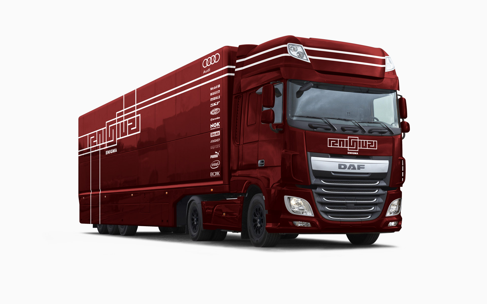 Franklin Estate Vineyards Enigma F1 Transporter Livery Visualization