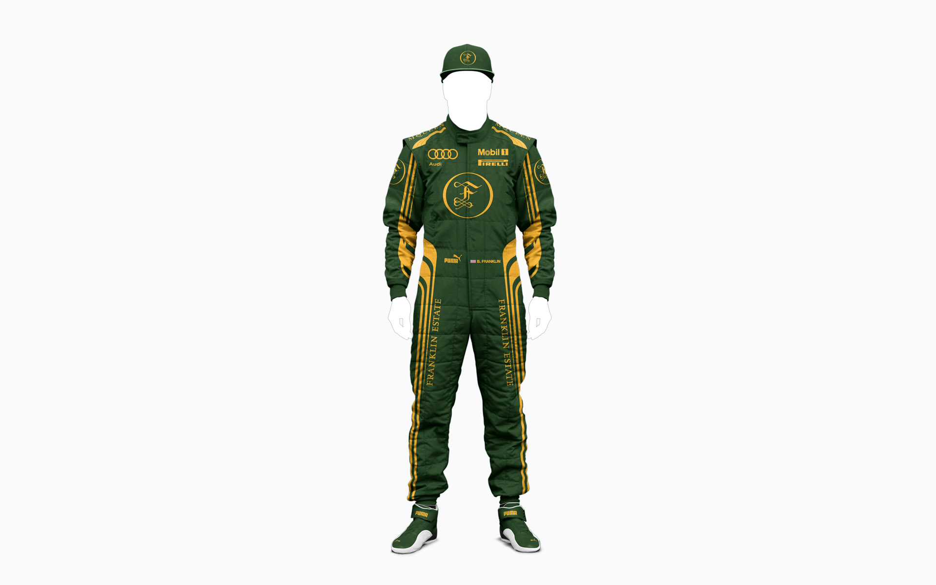 Franklin Estate Vineyards Reserve F1 Driver Firesuit Visualization