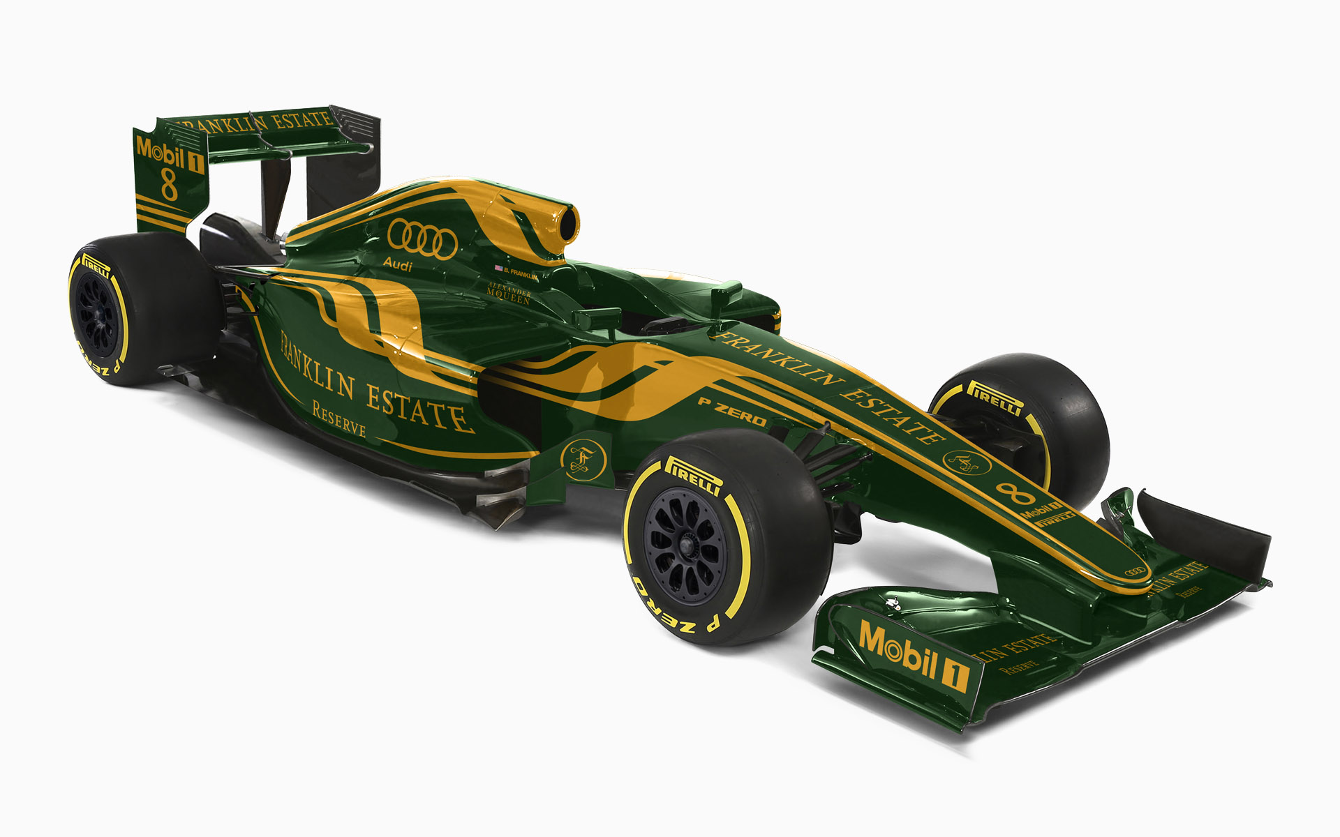 Franklin Estate Vineyards Reserve F1 Livery Visualization