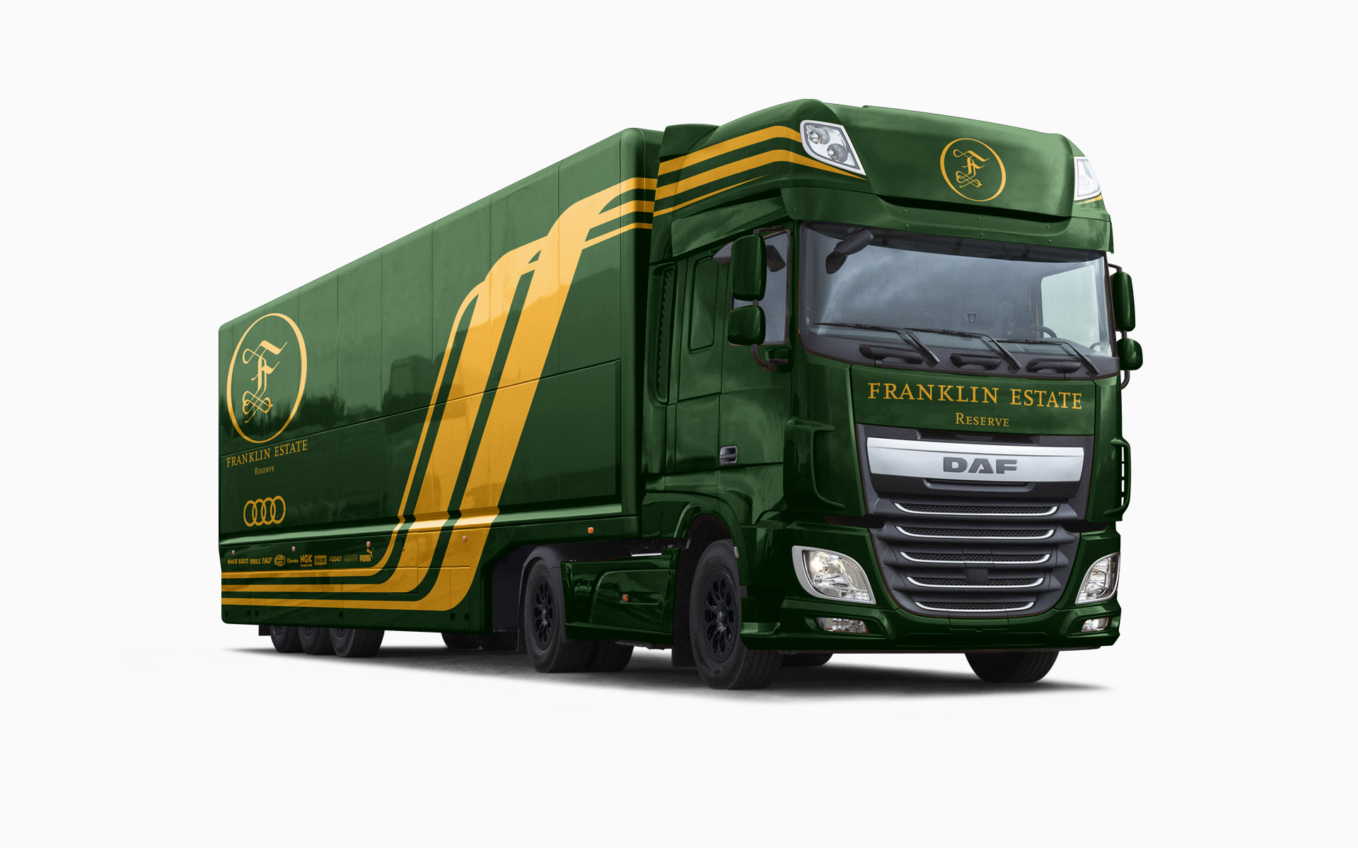 Franklin Estate Vineyards Reserve F1 Transporter Livery Visualization