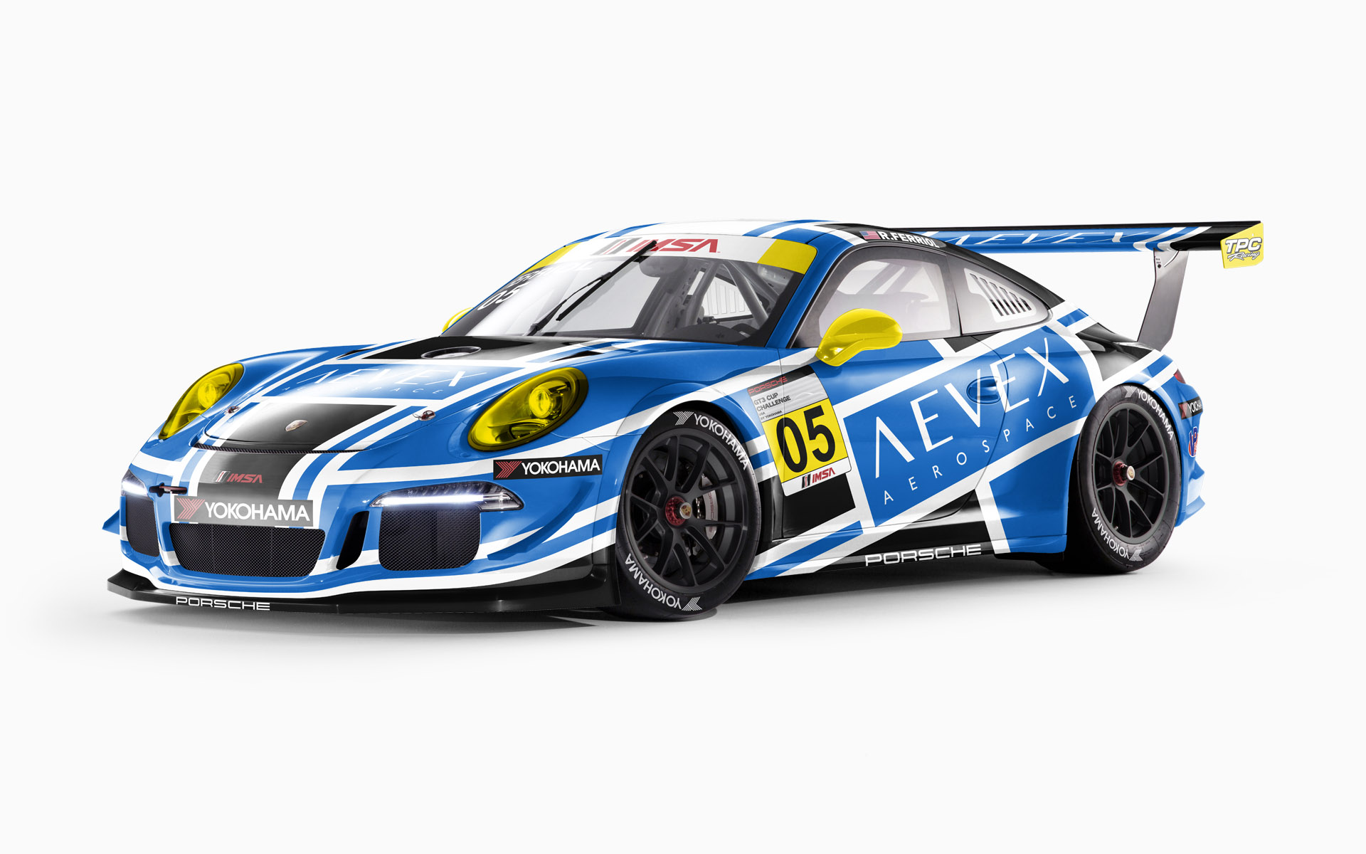TPC Racing Aevex Aerospace Porsche 911 GT3 Cup Livery Visualization